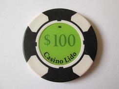 Lido Token Casino 100 $/Jeton De Casino Lido 100 $.Diameter/diametre=40 Mm - Casino