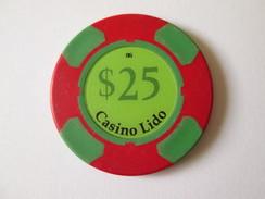 Lido Token Casino 25 $/Jeton De Casino Lido 25 $.Diameter/diametre=39 Mm - Casino