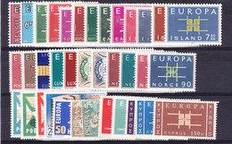 Europa Cept 1963 Year Set 19 Countries ** Mnh (36116) - Europa-CEPT