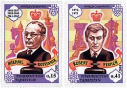 Ref. 125340 * NEW *  - TAJIKISTAN . 2001. CHESS MASTERS. MAESTROS DEL AJEDREZ - Tajikistan
