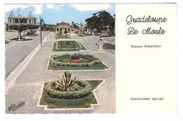Guadeloupe Le Moule Square Schoelcher Au Fond Hotel De Ville Cachet 1961 - Guadeloupe