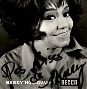 AUTOGRAPHES - CELEBRITES - NANCY HOLLOWAY - Théâtre PACRA à Paris - Dédicace - - Autographes