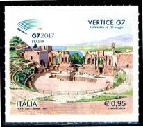 ITALIA / ITALY 2017** - Vertice G7 - Taormina - 1 Val. Autoadesivo Come Da Scansione - 6. 1946-.. Repubblica
