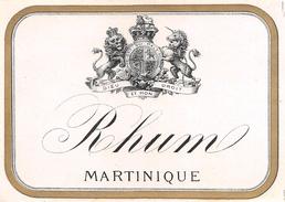 """D6037  """"RHUM - MARTINIQUE""""  ETICHETTA ORIGINALE - ORIGINAL LABEL - Rhum"""