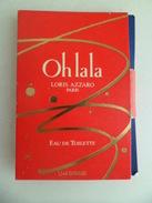 Tigette Ou  Tube De Parfum Echantillon  1,5 Ml  Eau De Toilette LORIS AZZARO OH LA LA OHLALA - Miniatures Modernes (à Partir De 1961)