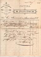 """Austria - Villach - Fattura Della Ditta """" M. Pufitsch """"  Datata  1 Maggio 1899 - (FDC4973) - Austria"""