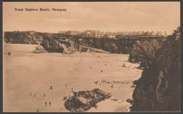 Great Western Beach, Newquay, Cornwall, C.1910 - Postcard - Newquay