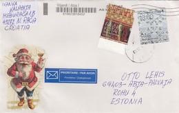 GOOD CROATIA Postal Cover To ESTONIA 2016 - Good Stamped: Art - Croatia