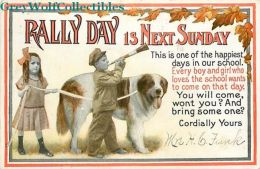 Rally Day, Vhildren And Dog, Goodenough & Woglom No. 7 - Christianity