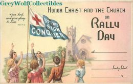 Rally Day, Children Holding Flag, S.P. Company Form 900 - Christianity