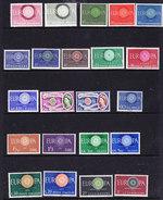 Europa Cept 1960 Year Set 19 Countries (without Liechtenstein) ** Mnh (36135) - 1960