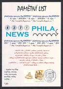 Czech Rep. / Commemorative Sheet (PaL 2011/03) Praha 1: Philatelic Information Blog NEWSPHILA (2010-2011) - Czech Republic