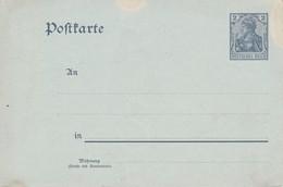 STORIA POSTALE  -   GERMANIA  - IMPERO - CARTOLINA POSTALE - ANNO 1900 - Germania
