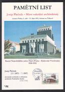 Czech Rep. / Commemorative Sheet (PaL 2011/04) 130 03 Praha 33: Josip Plecnik (1872-1957), Master Of Sacred Architecture - Czech Republic