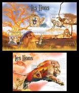CENTRAL AFRICA 2011 - Lions - YT 1948-51 + BF222; CV = 29 € - Roofkatten
