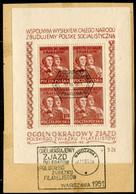 POLAND 1951 Philatelic Congress Block Used..  Michel Block 12 - Blocks & Sheetlets & Panes