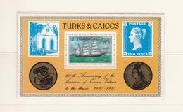 CAICOS ISLANDS 1987 ANNIVERSARY OF ACCESSION OF QUEEN VICTORIA BLOCK MINISHEET MNH - Turks & Caicos (I. Turques Et Caïques)