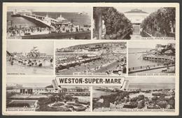 Multiview, Weston-Super-Mare, Somerset, 1951 - Postcard - Weston-Super-Mare