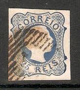 001253 Portugal 1855 Pedro V 25 Reis Imperf FU - 1855-1858 : D.Pedro V