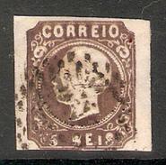 001255 Portugal 1862 Luiz 5 Reis Imperf FU - 1862-1884 : D.Luiz I