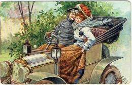 Illustrateur. A.Thiele. Couple & Automobile. 1914. - Thiele, Arthur