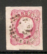 001256 Portugal 1862 Luiz 25 Reis Imperf FU - Used Stamps