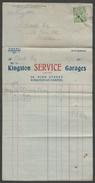 Two Bills & Receipt - Kingston Service Garages, Kingston-on-Thames, 1923 - Bills Of Exchange
