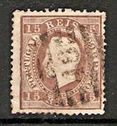 001259 Portugal 1875 Luiz 15 Reis Used Perf 12.5 - 1862-1884 : D.Luiz I