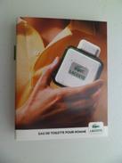 Tigette Ou  Tube De Parfum Echantillon  2 Ml  LACOSTE L'exprit Dans Un Flacon - Miniatures Modernes (à Partir De 1961)
