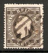 001260 Portugal 1875 Luiz 5 Reis FU Perf 13.5 - 1862-1884 : D.Luiz I