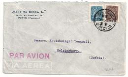 PORTO 4° SECTOR TO Suécia Helsingborg. PAR AVION. VIA AEREA. 1949 - 1910-... République