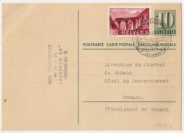 CHARDONNE Lac Léman Pour  MONACO Sur Carte Postale. - Briefe U. Dokumente