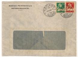 MOTIERS Neuchatel Suisse Pour BARSAC France. 1930. (DAGUIN à L'arrivée) - Briefe U. Dokumente