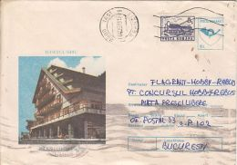 TOURISM, BALEA WATERFALL CHALET, COVER STATIONERY, ENTIER POSTAL, 1993, ROMANIA - Holidays & Tourism