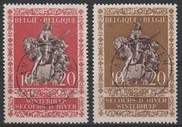 613/614 Winterhulp Oblit/gestp Centrale - Belgique