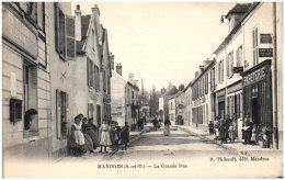 94 MANDRES - La Grande Rue   (Recto/Verso) - Mandres Les Roses