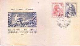 CZECHOSLOVAKIA 28.08.1954 FIRST DAY COVER - DESIATE VYROCIE SLOVENSKEHO NARODNEHO POVSTANIA - Czechoslovakia