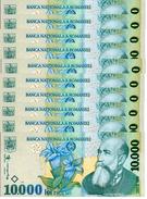 ROUMANIE 10000 LEI 1999 (2001) P-108a NEUF 10 PCS [RO108a] - Roemenië