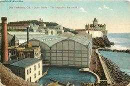 CA, San Francisco, California, Sutro Baths, Postmark 1908, Pacific Novelty No. 605 - San Francisco