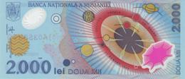 ROMANIA 2000 LEI 1999 P-111b UNC S/N PREFIX 001A (WITHOUT FOLDER) [RO272a] - Romania
