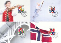 NORWEGEN - NORGE -  8 MC , Maximumkarten  Olympiade Lillehammer - Maximumkarten (MC)