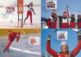 NORWEGEN - NORGE -  16 MC , Maximumkarten  Olympiade Lillehammer - Maximumkarten (MC)