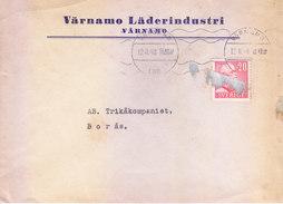 SWEDEN 1948 COMMERCIAL COVER - POSTED FROM VARNAMO FOR BORAS, VARNAMO LADERINDUSTRI - Suède