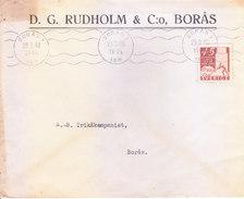 SWEDEN 1948 COMMERCIAL COVER - D. G. RUDHOLM & CO., BORAS - Suède