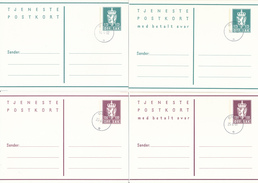 NORWEGEN - NORGE -  22 Postcards And Envelopes - Ganzsachen