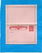 CHILI-Postal Stationery-carte Lettre Entier Postal-neuf**2c  Rouge -Colon--années 1895-00 - Chile