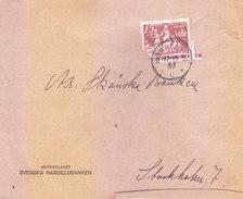 SWEDEN OLD COMMERCIAL COVER - POSTED FOR STOCKHOLM - Suède
