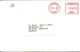 Norway Cover With Meter Cancel SANDNES Sent To Denmark 10-12-1993 - Norwegen