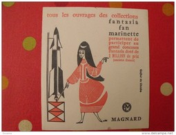 Buvard Magnard. Livres Collections Fantasia, Fan, Marinette. Fusée. Concours. Vers 1950. - Löschblätter, Heftumschläge