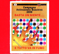 ITALIA - Usato - 2009 - Etichetta - Campagna Antincendio Boschivo - Basta Un Niente ... E Tutto Va In Fumo - Etichette Di Fantasia